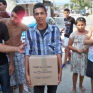 Pakete gegen Not und Hunger