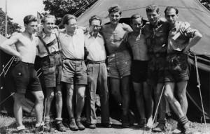 1. bündisches Lager nach 1945. Axi als Chef der österreichischen Delegation - 1948