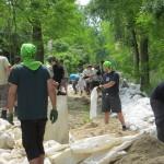 Pfadfinder helfen in den Hochwassergebieten im Rahmen der 72-Stunden-Aktion