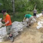 Mitglieder der DPSG engagierten sich bei der 72-Stunden-Aktion des BDKJ in Hochwassergebieten. Bild: Tobias Becker