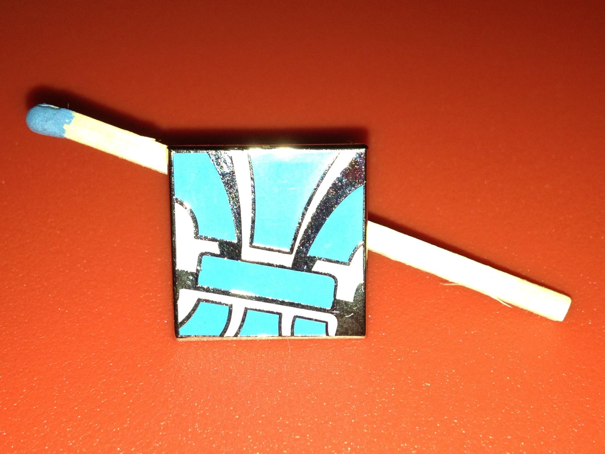 Erkennungs-Pin für die Mitglieder des Pfadfindertreffpunkt