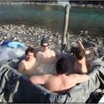 Nach der Sauna ab in den Fluss