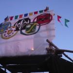 Lagertor mit olympischem Feier. Foto: Humpel (Karin Kampf)