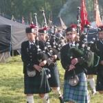 Die Highlander trumpften mit Musik auf.