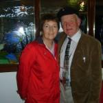 Margo, Donegal Person of the Year, mit dem König.