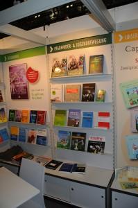 der Spurbuchverlag mit dem scouting Jahrbuch 2013 auf der Frankfurter Buchmesse 2013