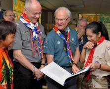 König von Schweden besucht philippinische Pfadfinder