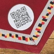 QR-Code-Aufnäher zum Jamboree