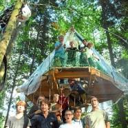 Baumhaus lagert statt zu hängen
