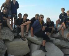 Wandernde Rotmilane an der Adria
