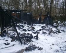 Wieder brannte ein Pfadfinderheim – Totalschaden