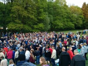 Eroffnungszeremonie bei m Vorlager in Immenhausen am 13. Mai 2015