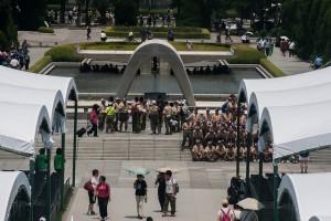 Die Gedenkstätte in Hiroshima