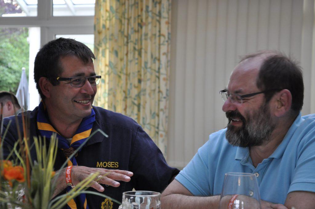 Dr. Roland Baetzel (Moses) und Klaus Legler (Schlappi)
