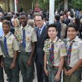 Randall-Stephenson-and-Scouts-at-memorial-service