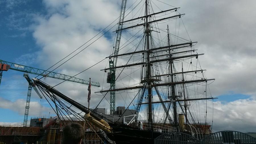 Die Discovery im Hafen von Dundee