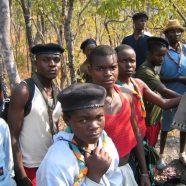 Unterstützung der Yususfu (sambische Pfadfinder)