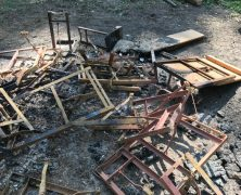 Grillgarnituren verbrannt