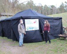Einhaltung Corona-Regelung per Zelt
