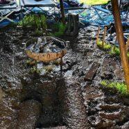 Gesättigter Boden und Dauerregen